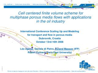 International Conference Scaling Up and Modeling for transport and flow in porous media