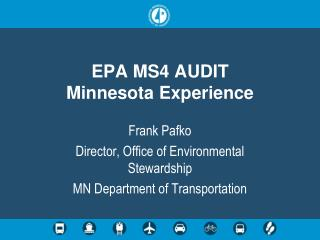 EPA MS4 AUDIT Minnesota Experience