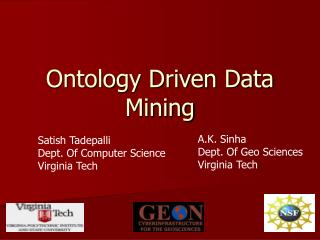 Ontology Driven Data Mining