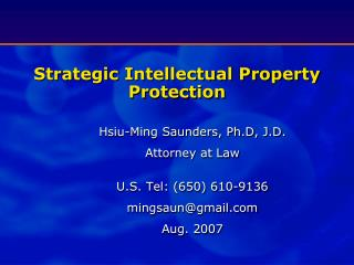 Strategic Intellectual Property Protection