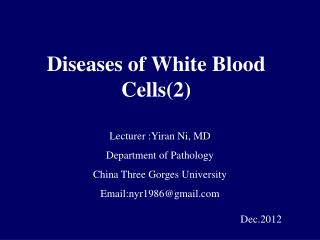Diseases of White Blood Cells(2)