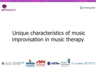 Unique characteristics of music improvisation in music therapy