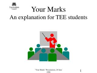 Your Marks An explanation for TEE students