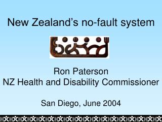 New Zealand's no-fault system