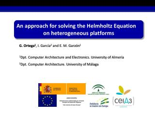 An approach for solving the Helmholtz Equation on heterogeneous platforms