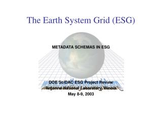 The Earth System Grid (ESG)