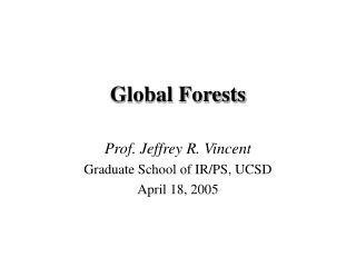 Global Forests