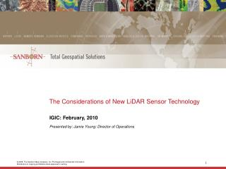 The Considerations of New LiDAR Sensor Technology