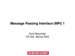 Message Passing Interface (MPI) 1