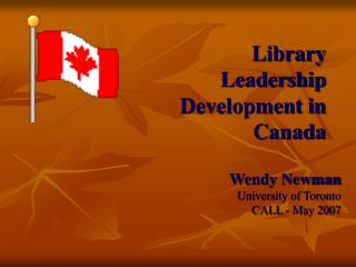 Library Leadership Development in Canada
