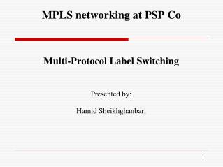 MPLS networking at PSP Co