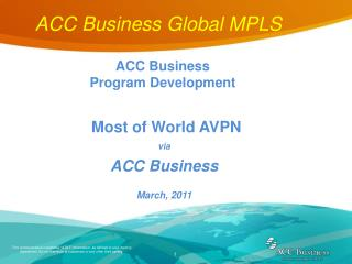 ACC Business Global MPLS