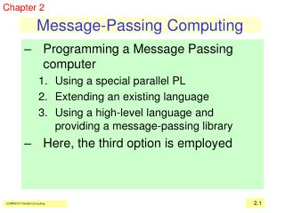 Message-Passing Computing