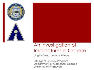 An Investigation  of Implicatures  in Chinese