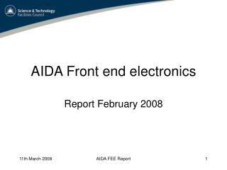 AIDA Front end electronics