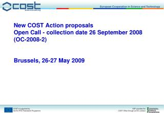 COST Action TD 0902 -  Submerged Prehistoric Archaeology and Landscapes of the Continental Shelf