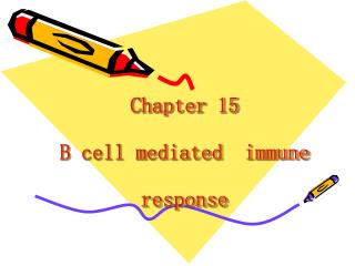 Chapter 15  B cell mediated  immune response