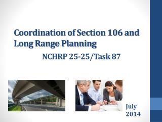Coordination of Section 106 and Long Range Planning