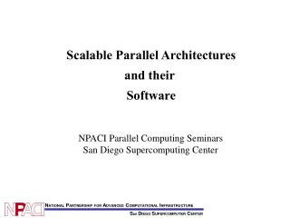 Scalable Parallel Architectures and their  Software