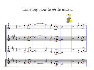 Learning how to write music.