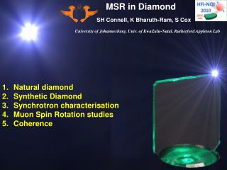 MSR in Diamond