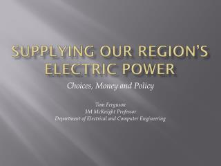 Supplying our Region's Electric Power