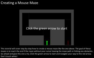 Creating a Mouse Maze