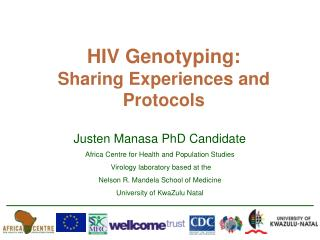 HIV Genotyping:  Sharing Experiences and Protocols