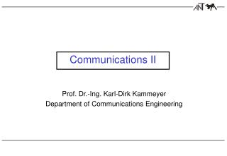 Communications II