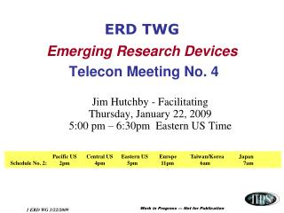 ERD TWG Emerging Research Devices Telecon Meeting No. 4