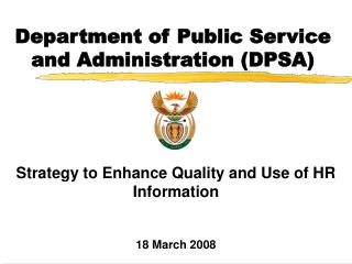 Department of Public Service and Administration (DPSA)