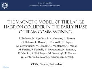 THE MAGNETIC MODEL OF THE LARGE HADRON COLLIDER IN THE EARLY PHASE OF BEAM COMMISSIONING
