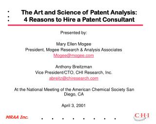 The Art and Science of Patent Analysis:  4 Reasons to Hire a Patent Consultant