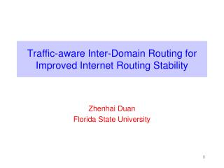 Traffic-aware Inter-Domain Routing for Improved Internet Routing Stability
