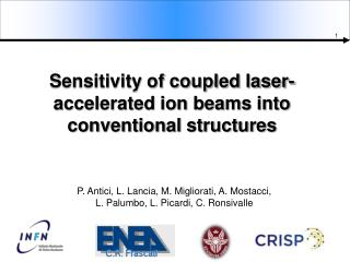 Sensitivity of coupled laser-accelerated ion beams into conventional structures