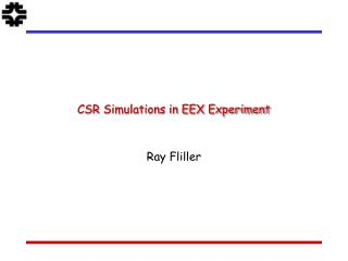 CSR Simulations in EEX Experiment