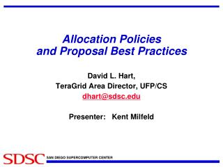 Allocation Policies  and Proposal Best Practices