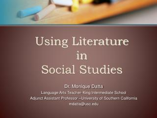 Using Literature  in  Social Studies