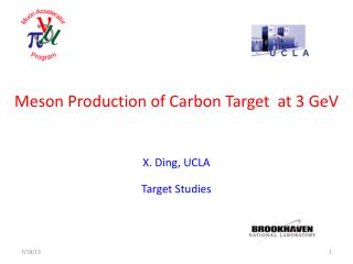Meson Production of Carbon Target  at 3 GeV