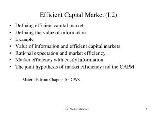 Efficient Capital Market L2