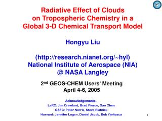 Radiative Effect of Clouds  on Tropospheric Chemistry in a  Global 3-D Chemical Transport Model