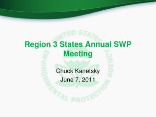 Region 3 States Annual SWP  Meeting