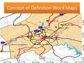 Concept of Definition Word Maps