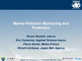 Marine Pollution Monitoring and Prediction