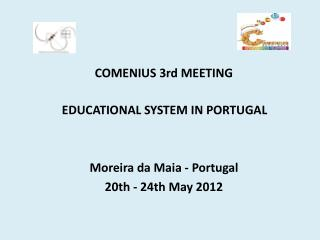 COMENIUS 3rd MEETING EDUCATIONAL SYSTEM IN PORTUGAL Moreira da Maia - Portugal