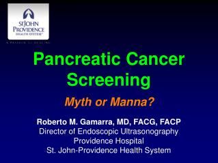 Pancreatic Cancer Screening