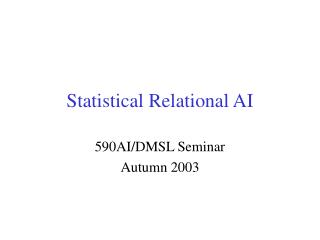 Statistical Relational AI