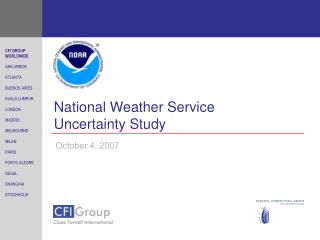 National Weather Service Uncertainty Study