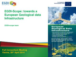 EGDI-Scope: towards a European Geological data Infrastructure