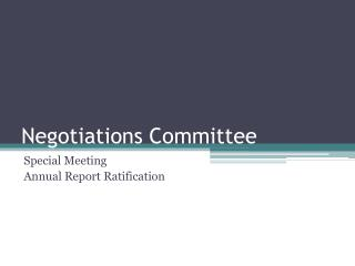 Negotiations Committee